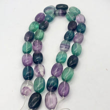 Load image into Gallery viewer, Sparkling! 3 Multi-Hue Fluorite Oval 24X16X11MM Beads - PremiumBead