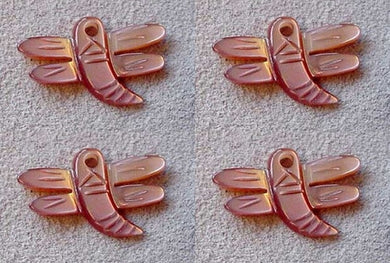 1 Dragonfly Premium Hand Carved & Etched Pink Mussel Shell 004404B - PremiumBead Primary Image 1