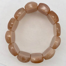 Load image into Gallery viewer, Succulent!! 30x14x7mm Peach Moonstone 12 Bead Bracelet - PremiumBead