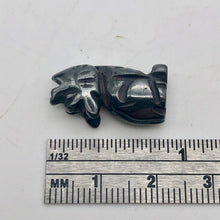 Load image into Gallery viewer, howling-new-moon-2-carved-hematite-wolf-coyote-beads-21x11x8mm-silver-black-15968