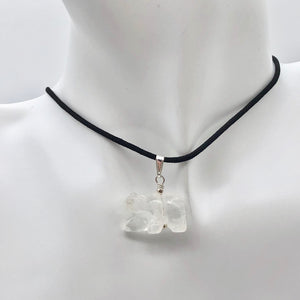 Carved Natural Quartz Bear and Sterling Silver Pendant 509252QZS - PremiumBead Alternate Image 7
