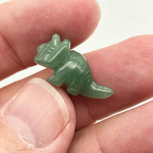 Load image into Gallery viewer, Dinosaur 2 Carved Aventurine Triceratops Beads | 22x12x7.5mm | Green - PremiumBead