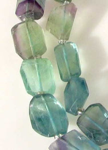 Incredible Artistically Faceted Multi-Hue Fluorite Nugget Bead Strand 109643 - PremiumBead Alternate Image 3