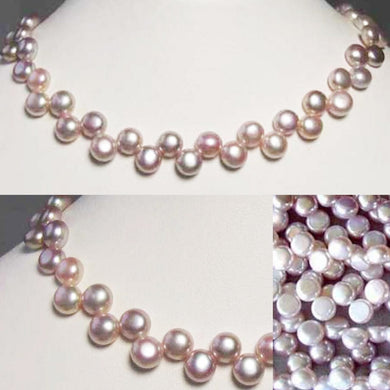 Top Drilled Button Lavender Pink FW Pearl Strand 104761 - PremiumBead