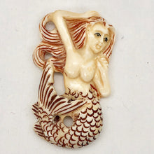 Load image into Gallery viewer, Splash Hand Carved Mermaid Centerpiece Bead | 42x26x5mm | - PremiumBead Primary Image 1