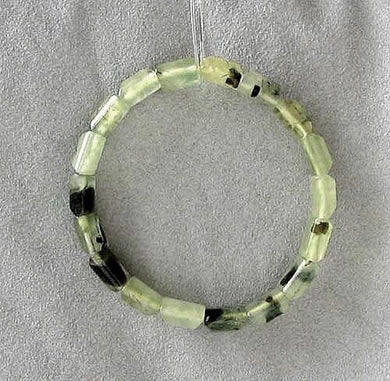 Beautiful Druzy Green Prehnite Bead 7.25