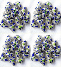Load image into Gallery viewer, 5 Cobalt Cloisonne Butterfly Pendant Beads 8635C - PremiumBead