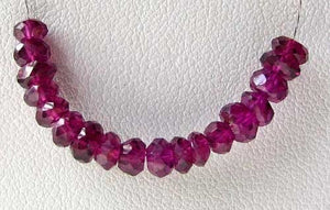 Merlot 2 Mozambique Garnet Faceted Roundel Beads 7658 - PremiumBead