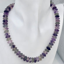 Load image into Gallery viewer, Fantastic! Multi-Hue Frosted Fluorite 10x5mm Wheel-Rondelle Bead Strand - PremiumBead