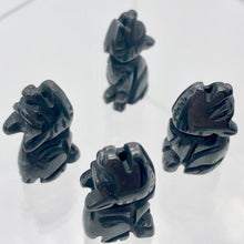 Load image into Gallery viewer, howling-new-moon-2-carved-hematite-wolf-coyote-beads-21x11x8mm-silver-black-15971