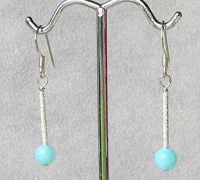 Seafoam Peruvian Opal & Sterling Silver Earrings 6134 - PremiumBead