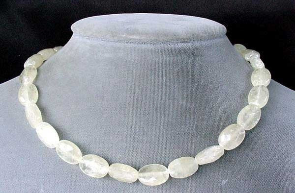 Sparkling Lemon Faceted Calcite Oval Bead Strand 104635 - PremiumBead Primary Image 1