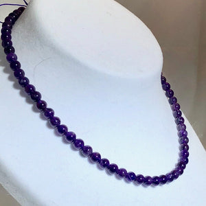 20 Natural 6mm Royal Amethyst Round Beads 10650 - PremiumBead