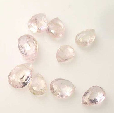1 Premium 7x5x2.5 to 8x5.5x3mm Topaz Faceted Briolette Bead 4077M - PremiumBead