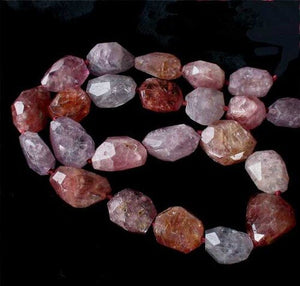 Natural 490cts Spinel Faceted Nugget Bead Strand 10409A - PremiumBead