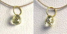 Load image into Gallery viewer, 0.29cts Natural Canary Diamond 18K Gold 4x2.5mm Pendant 8798Q - PremiumBead