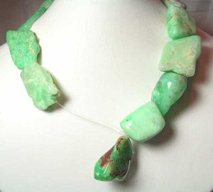 895cts Designer Natural Chrysoprase Nugget Bead Strand 108491AC - PremiumBead Alternate Image 3