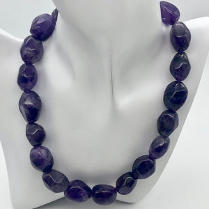 Grape Candy Amethyst Large Nugget Focal Bead Strand - PremiumBead