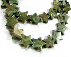 Gleam 5 Rhyolite Jasper Carved Star Beads 009466 - PremiumBead