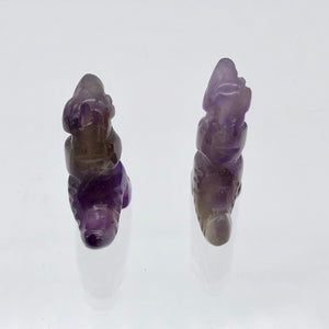 T-Rex Dinosaur 2 Amethyst Tyrannosaurus Rex Beads | 21x18.5x8mm | Purple w/Brown - PremiumBead Alternate Image 8