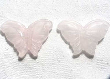 Load image into Gallery viewer, 2 Icy Pink Carved Quartz Butterfly Beads | 23x31x7-25x33x4.5mm | Pink - PremiumBead