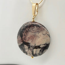 Load image into Gallery viewer, Porcelain Jasper 30mm Disc and 14K Gold Filled Pendant 510602H - PremiumBead