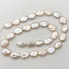 Load image into Gallery viewer, Oval/Teardrop 2 Creamy Freshwater Coin Pearls 4456 - PremiumBead