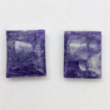 Load image into Gallery viewer, 75cts of Rare Rectangular Pillow Charoite Beads | 2 Beads | 24x20x9mm | 10871C - PremiumBead Alternate Image 5