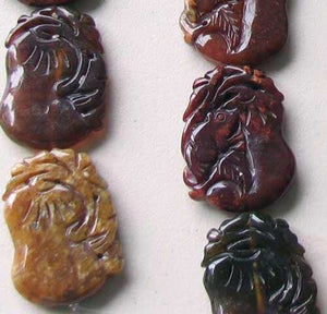 1 Carved Su Chow Jade 50mm Frog & Gourd Prosperity Bead | 50x37x6mm | Green - PremiumBead