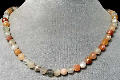 Scintilating Multi-Hue Moonstone Faceted Bead Strand 105671 - PremiumBead Primary Image 1