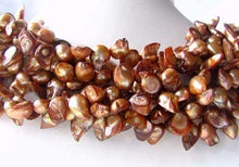 Load image into Gallery viewer, Creamy Carmel Pearl Blister Pendant Bead Strand 108328 - PremiumBead