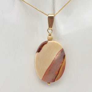 Sherbet Mookaite 30x20mm Oval 14k Gold Filled Pendant, 2 inches 506765A - PremiumBead Alternate Image 2