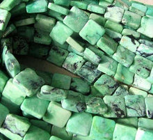 Load image into Gallery viewer, 4 Beads of Mint Green Turquoise Square Coin Beads 7412G - PremiumBead Primary Image 1