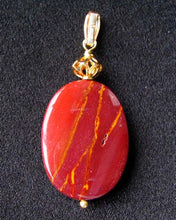 Load image into Gallery viewer, Fabulous Mookaite 30x20mm Oval 14k Gold Filled Pendant, 2 1/8 inches 506765D - PremiumBead Alternate Image 11
