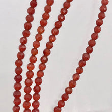 Load image into Gallery viewer, Luscious! Faceted 3mm Natural Carnelian Agate Bead Strand - PremiumBead