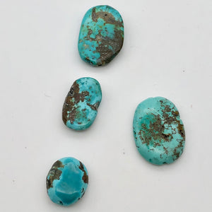 Amazing! 4 Genuine Natural Turquoise Nugget Beads 50cts 010607U - PremiumBead