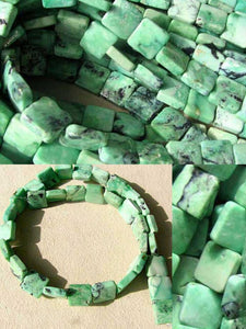 4 Beads of Mint Green Turquoise Square Coin Beads 7412G - PremiumBead Alternate Image 3