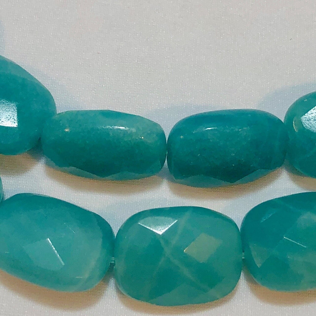4 Gem Quality Faceted Amazonite Beads - PremiumBead
