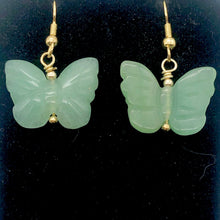 Load image into Gallery viewer, Aventurine Butterfly 14Kgf Gold Earrings | Semi Precious Stone Jewelry | - PremiumBead