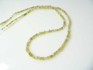 17.1cts Natural Untreated 13 inch Canary Druzy Diamond Beads 110620 - PremiumBead