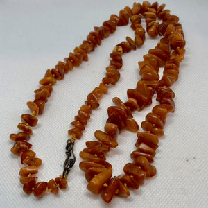 "Butterscotch Amber Graduated Nugget Bead 34"" NECKLACE 210790 - PremiumBead Alternate Image 2"