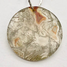 Load image into Gallery viewer, Druzy Red Moss Agate 24mm Disc Pendant Bead 4848Fb - PremiumBead Alternate Image 6