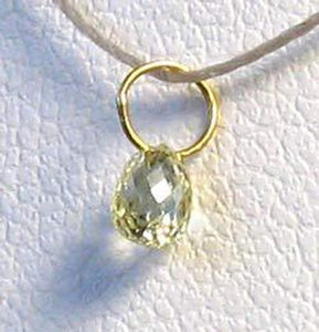 0.28cts Natural Canary Diamond 18K Gold Pendant 8798J - PremiumBead