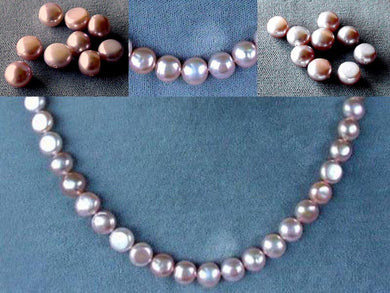 9 Beads of Peachy Pink 8mm Button FW Pearls 4476 - PremiumBead