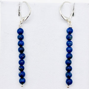 "Shining Teal Fresh Water Pearl Sterling Silver Earrings | 2"" long 