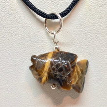 Load image into Gallery viewer, Tiger's Eye Koi Fish W/ Sterling Silver Pendant 509265TES - PremiumBead