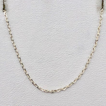 "Load image into Gallery viewer, 16"" Italian Made 1.2 Grams Solid Sterling Silver 1mm Open Cable Chain 