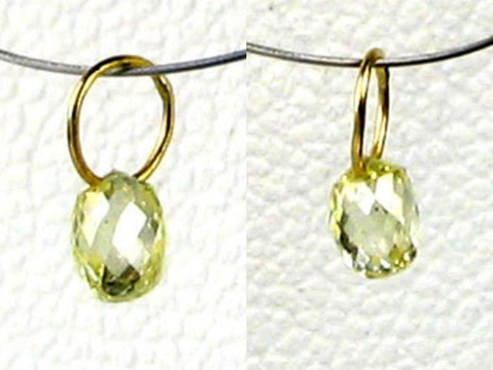 0.25cts Natural Canary Diamond & 18K Gold Pendant 8798K - PremiumBead