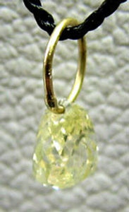 0.23cts Natural Canary Diamond 18K Gold Pendant 8798G - PremiumBead