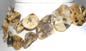3 Hand Carved Big Cat Feldspar Leaf Beads 9319FE - PremiumBead Primary Image 1